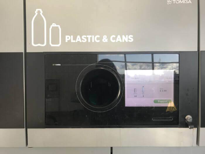 アメリカのスーパーのボトルリサイクル