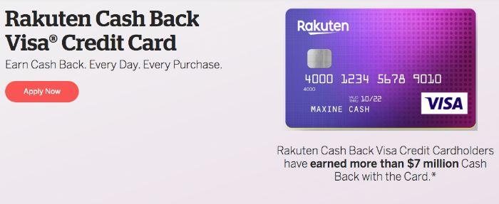 Rakuten Ebatesのクレジットカード